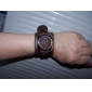 Unisex PU Analog Quartz Wrist Watch (Brown) Cool Watch Unique Watch