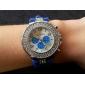 여성의 다이아몬드 diamand 케이스 실리콘 밴드 석영 아날로그 손목 시계 (분류 된 색깔)
