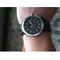 Fashionable Quartz Wrist Watch with Black Plastic Band