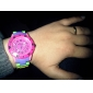Unisex Kunststoff-Quarz-Analog-Armbanduhr (Multi-Colored)