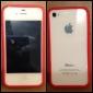 Пластиковый бампер с металлическими кнопками для iPhone 4 и 4S