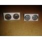 Zebra-stripe Stainless Steel Earrings