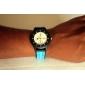 Муж. Спортивные часы Уникальный творческий часы Японский Кварцевый Pезина Группа Черный Синий Красный