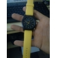 Unisex's Silicone Analog Quartz Wrist Watch (Yellow)