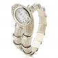 Women's Silver Snake Style Alloy Quartz Analog Bracelet Watch Cool Watches Unique Watches Strap Watch
