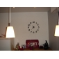 12 «numéros bricolage mur de mode analogique horloge (noir, 1xAA)