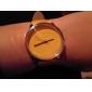 kvinners casual stil gul pu bandet kvarts armbåndsur
