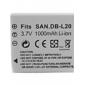 1000mah 3.7v appareil photo numérique de la batterie DB-L20 pour Sanyo Xacti DMX-C6, dsc-c5