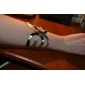 Lureme®Silver Plated Arc Shaped Dull Polish Alloy Bracelet