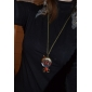 Ugly Glasses Girl Pendant Alloy Necklace