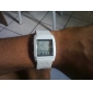 Digital + Analog Dual-Time Mens Wrist Watch with Weekday Display - White (2*CR1120)