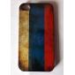 estilo vintage caso padrão bandeira russa difícil para iphone 4 e 4s