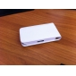 Premium PU Leather Case for iPhone 4 / 4S (White)