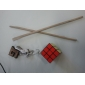 Toys Magic Cube 3*3*3 With Keychain Magic Toy Smooth Speed Cube Magic Cube puzzle Black Plastic