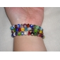 Flower Pattern Globular Vaidurya Bracelet