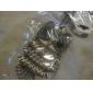 Owl Shape Copper Necklace with Rhinestone Eyes