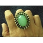 Colorful Oval Stone Alloy Ring