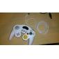 wired controlador de jogo turbo choque para gamecube ngc e wii / wii u (branco)