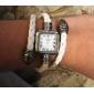Femme Montre Tendance Bracelet de Montre Quartz Polyuréthane Bande Blanc Blanc