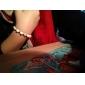 Funny Smiling Skull Shape Black Turquoise Alloy Bracelet