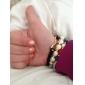 Roligt leende Skull Form Svart Turkos Alloy Armband