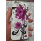 Purple Flower Pattern Soft Case for iPhone 5/5S