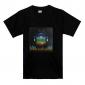 Tshirt LED Ativada por Som e Música - Terra (3 x Baterias AAA)