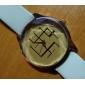 여성의 석영 아날로그 브라운 다이얼 PU 밴드 손목 시계 (분류 된 색깔)