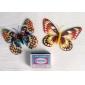 fluoresoiva perhosen muotoinen jääkaappimagneetti (random väri)