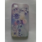 Purple Flower Pattern Ultra Thin Hard Case for iPhone 4 and 4S