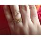 여성의 라인 스톤 크라운 반지 (모듬 색상)