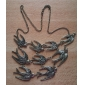 Swallows Charms Necklace Vintage Bronze Tone Choker Necklace