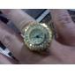 femmes de style en alliage d'or analogique anneau Montre à quartz (or)