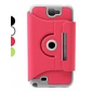 Rotatable Protective PU Leather Case with Stand for Samsung Galaxy Note 2 N7100 (Assorted Colors)