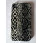 Snake Skin Pattern Style Lagging PU Leather Case for iPhone 4 and 4S (Assorted Colors)