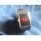 Men's Watch Red LED Digital Rectangle Dial Silicone Strap
