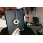 Case Pele PU com Suporte para o Novo iPad e iPad 2
