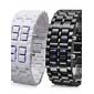 Par de Relógios LED Modernos (preto e branco)