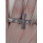 Z&X®  Vintage Style Cross Double Ring
