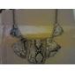 Elegante Collar Retro de Segmentos de Serpiente Poligonal