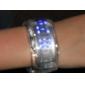 Futuristiskt Armbandsur med Blå LED - Transparent Vit