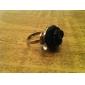z&X® vintage stil svart ros ring