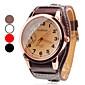Masculino Relógio Elegante Japanês Quartzo PU Banda Preta Branco Vermelho Marrom Branco Preto Marron Vermelho