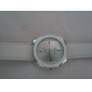 Fashionable Quartz Wrist Watch with White PU Band