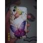 Caso Pattern borboleta colorida rígido com diamante para Samsung Galaxy Ace S5830
