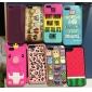 3d projeto bonito do porco padrão estojo para iphone 5/5s (cores sortidas)