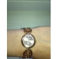Women's Fashionable Style Alloy Analog Quartz Bracelet Watch (Bronze)