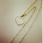 Fashion Sweet Gilt Edged Heart Shape Necklace