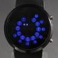 Relógio LED Padrão Azul