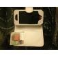 Carcasa de Cuero Genuino PU para el iPhone 4 (Blanca)